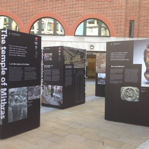 Paternoster Square exhibiton featuring the Temple of Mithras (c) MOLA
