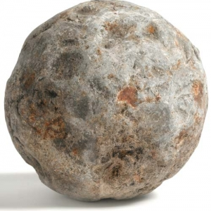 Cannon ball prop from MOLA excavation at the Rose Theatre (c)MOLA