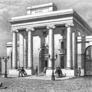 Engraving of Birmingham Curzon Street Station