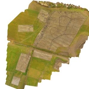 Milton Heights archaeology ortho mosaic photograph