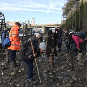 Foreshore walk with MOLA and Thames Discovery Programme