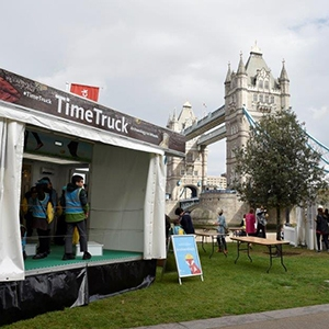 Time Truck at Tower Bridge (c) MOLA