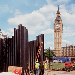 Westminster construction (c) MOLA, Andy Chopping