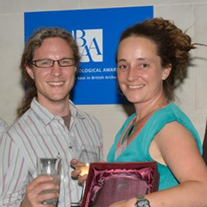 Mike Tetreau and Sadie Watson at the British Archaeological Awards