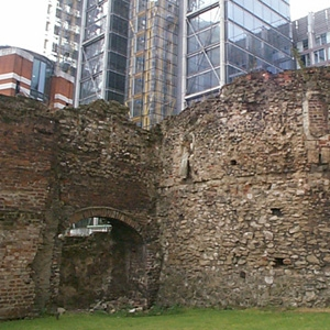 A standing building survey of Bastion 14, City of London
