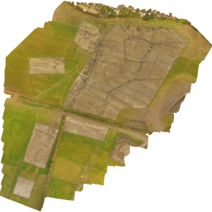 Spatially correct image showing the relationship of the archaeological features. Imported into CAD it can be used in conjunction with terrestrial survey results to accurately plot the location of archaeological remains.