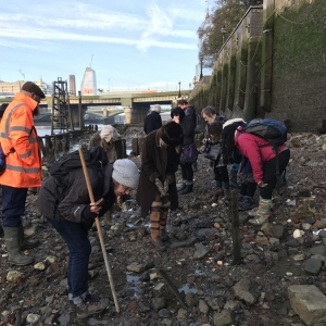 Thames Discovery Programme on the Cannon Street foreshore