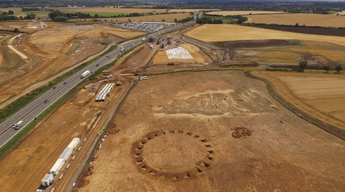 Circular 'henge' monument thought to have been used as a ceremonial space (c) A14C2H courtesy of MOLA Headland Infrastructure.jpg