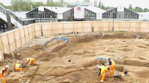 Archaeological excavations at Northampton Rail Station