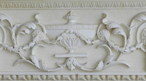 Architectural detail from building on Grosvenor Street, Mayfair, London