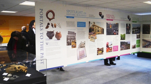 Portals to the Past Crossrail exhibition