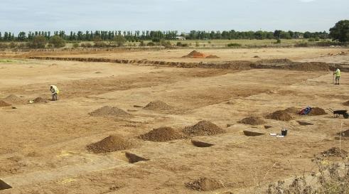 Archaeological fieldwork at Sipson Farm