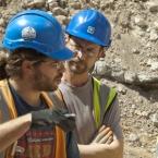 MOLA archaeologist supervising excavation